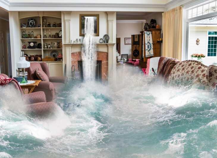женщине приснилось наводнение